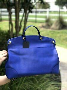 NWT-Furla-Piper-Ladies-Large-Leather-Top-Handle-Satchel-Bag-Indigo-Blue
