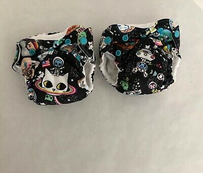 Dragons Fly 2-Pack Kanga Care Lil Joey Newborn All-In-One Cloth Diaper