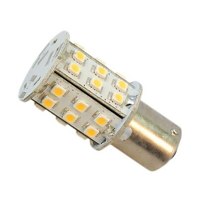 HQRP Single Contact LED Bulb BA15s Warm White for 1156 1141 RV Camper Interior