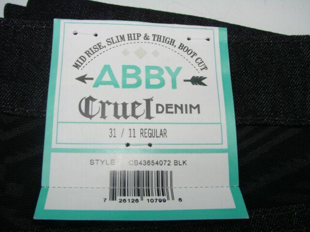 11 9 13 Aztec Cruel Girl Denim Abby Jeans Black Regular Long VCB43654072 7