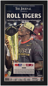 Clemson-Tigers-2016-National-Champions-034-The-Journal-034-Newspaper-Framed-In-Black