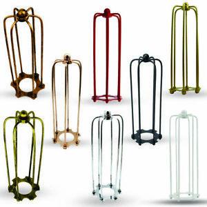 Vintage-metal-long-cage-Wire-frame-loft-ceiling-pendant-light-shade-chandelier