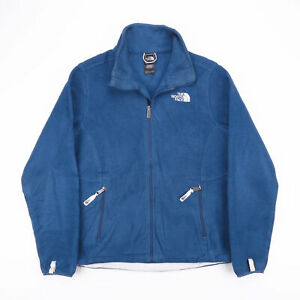 Vintage-THE-NORTH-FACE-Blue-Zip-Up-Outdoor-Fleece-Jacket-Womens-Size-Medium