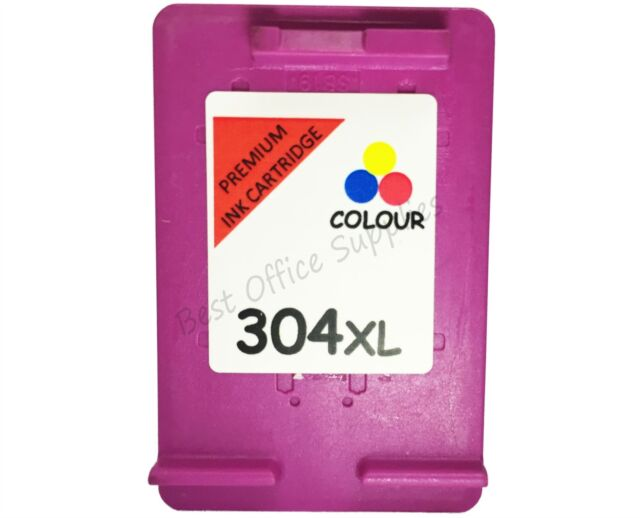 Remanufactured 304 XL Colour Ink Cartridge Combo fit HP Deskjet 2600 All-In-One
