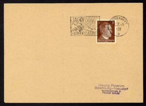 Allemagne-n-706-Yv-flamme-WW2-WIESBADEN-1-b-Timbre-Allemand-Hitler-Mi-782