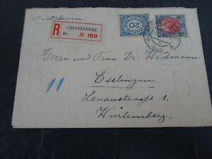 Nederland  65, 109 op aangetekende brief 's Gravenhage-Esslinen 1922