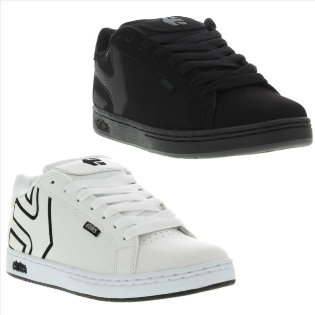 Etnies Fader Mens Black Nubuck Skate Shoes Trainers Size UK 8-9