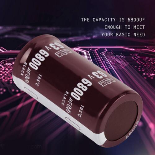 2 Stücke 63V Elektrolytkondensator 6800uF Kondensator 25mm x 50mm 105℃ DE