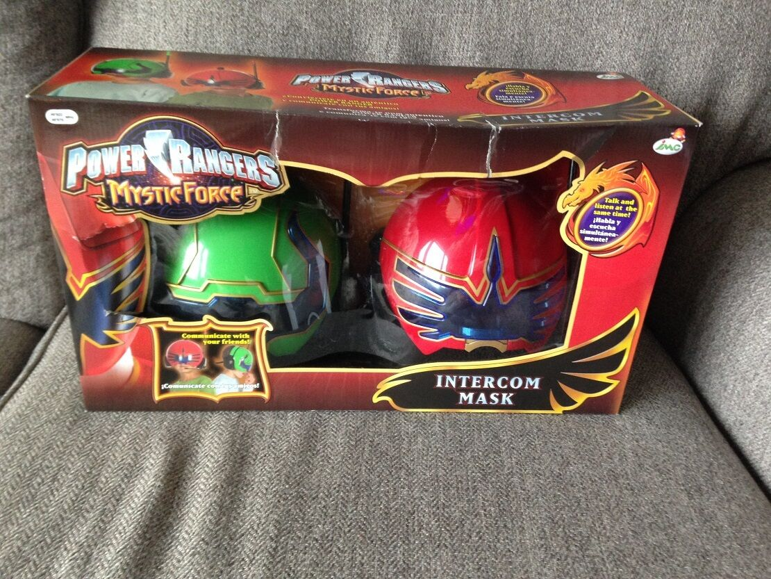 Power Rangers Mystic Force Intercom Mask. Öppna i originallådan.En sällsynt bit.