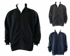 Men-039-s-Big-amp-Tall-Plus-Size-Zip-Up-Sweater-Jumper-Sports-Jacket-3XL-6XL
