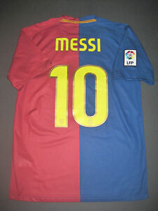 4615bcf10ee 2008-2009 Nike Authentic FC Barcelona FCB Jersey Shirt Kit Messi ...