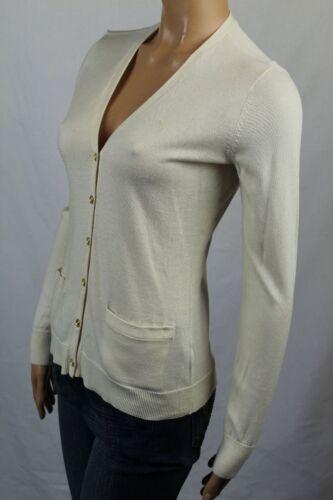 Ralph Lauren Cream Cotton Cardigan Sweater Gold Buttons NWT