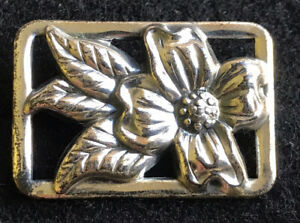 Vintage-Sterling-Silver-Flower-Pin-Petite-Unsigned-Beauty