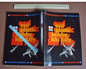 1983 Vintage Esci Italie Kit Plastique Catalogue. Avions Motos Afvs Etc 954-afficher Le Titre D'origine