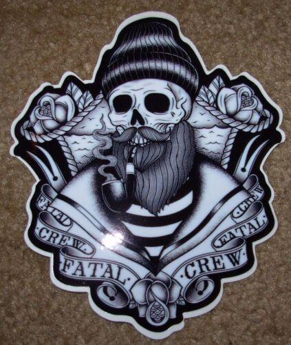 "FATAL Salty Captain 4 X 5/"" STICKER skate skateboard helmet decal"