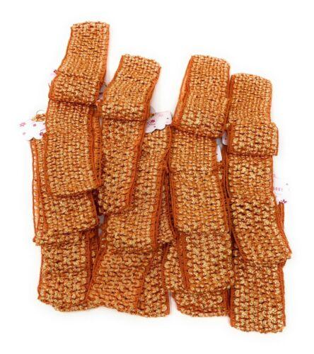 Wholesale lot 46 pcs Crochet Headband With 1.5 inch Polyester Black.