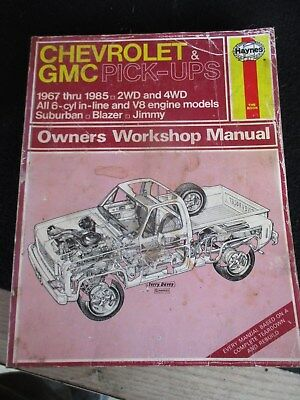 Chevrolet Suburban Blazer 1967-1991 Haynes USA Workshop Manual