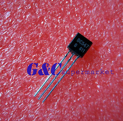 500pcs BC547 TO-92 30V Low Power NPN Transistor NEW GOOD QUALITY