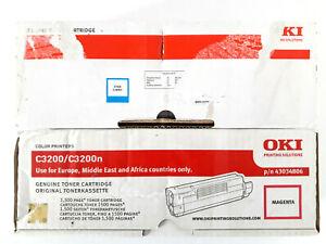 Lot-2-Toner-OKI-Cyan-43034807-Magenta-43034806-C3200-C3200n-ORIGINAL-GENUINE-1