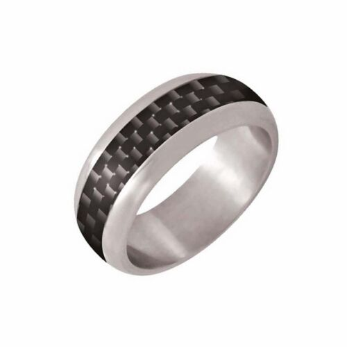 NEW Zoppini Stainless Steel Carbon Fibre Ring G1079 0092