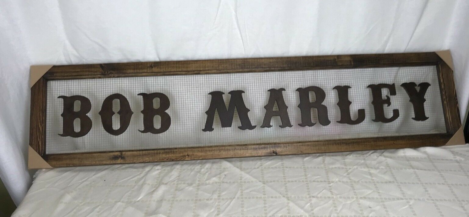 Big Wooden Bob Marley Sign