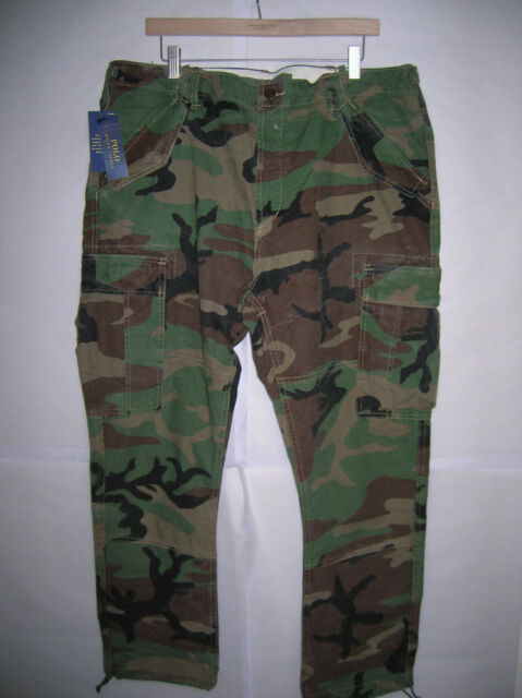 how to choose half off most reliable new Polo Ralph Lauren military camo field cargo pants vintage army BDU  fatigues