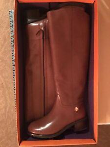 a646dea0e440e New Tory Burch Fulton Knee-High Boot Sepia Brown 55 mm Boot Size 7 M ...