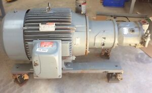Rexroth Hydraulic Pump MDL AA10VS071 w Reliance 40 HP Motor DUTY MASTER 3 PH