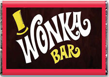A4 ** Glaseado Hoja ** Willy Wonka Bar Comestibles Charlie And The Chocolate Factory