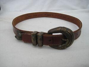 AUTHENTIQUE-ceinture-LIZ-CLAIBORNE-cuir-TBEG-vintage-a-saisir