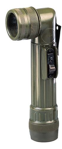 Armée Style C-Cell lampes de poche avec clip de ceinture Extra Lentilles /& Ampoule-OD ou noir