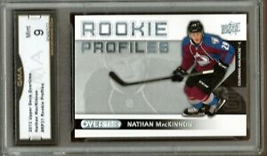 GMA-9-Mint-NATHAN-MacKINNON-2013-14-UD-Upper-Deck-OVERTIME-Rookie-Card-AVs