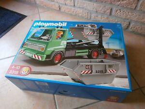 Rare Cette Boîte Playmobil Le Camion À Bennes Réf:3318 De 2009 (neuf)