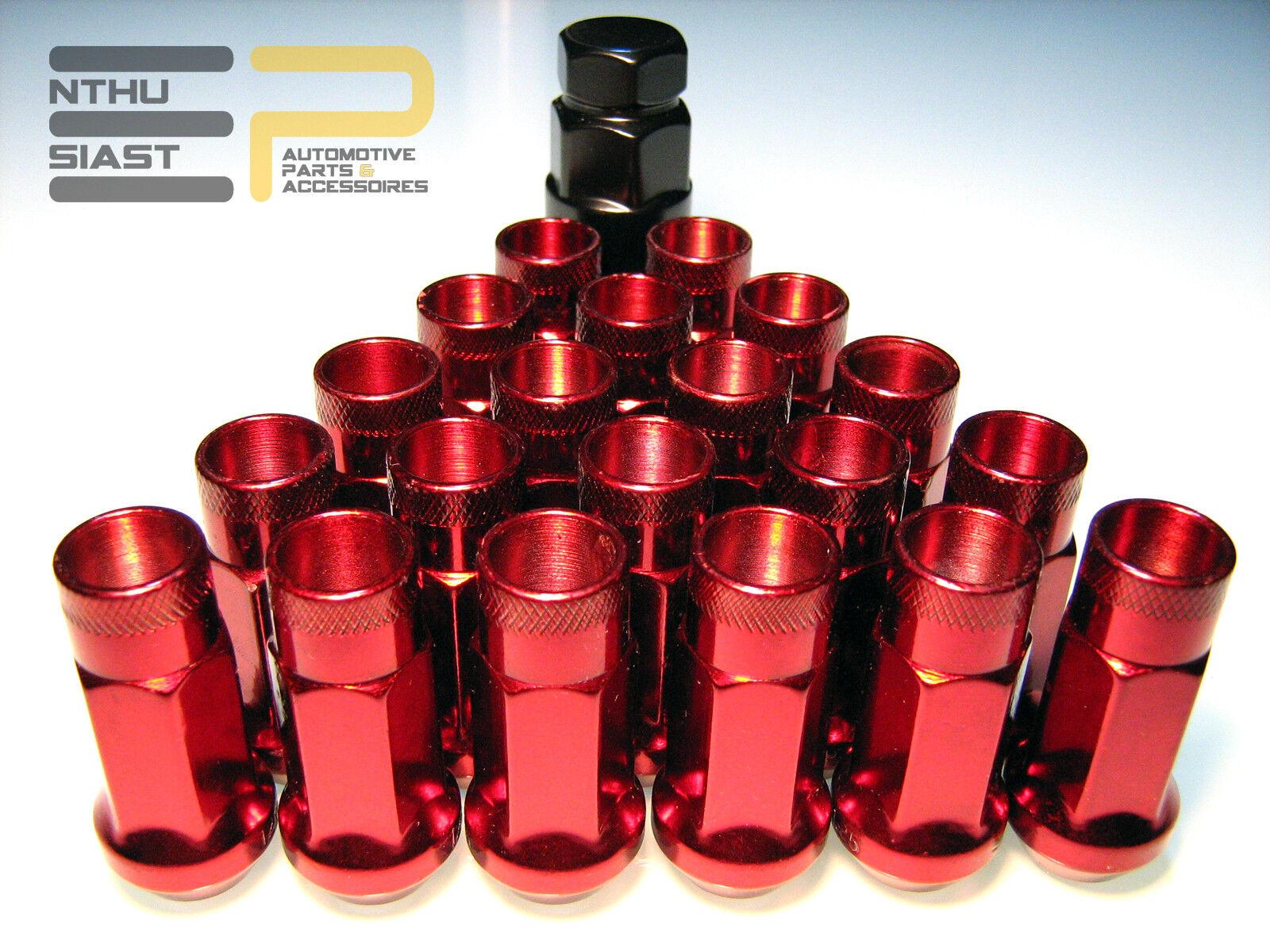 Inbus Stahl Lug Nuts M12 x 1.5 Radmuttern 45mm SCHWARZ 20 Stk JDM