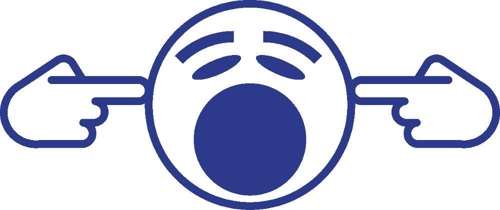 Aufkleber Applikation Party Dekor Smiley Finger im Ohr blau in 7 Groessen AP0674   Schönes Design    König der Quantität