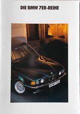 Prospekt BMW 7er E32 730i - 735i - 735iL - 2/90 -  38 Seiten!