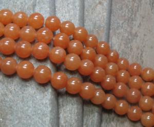 10 mm Red Aventurine Beads full strand