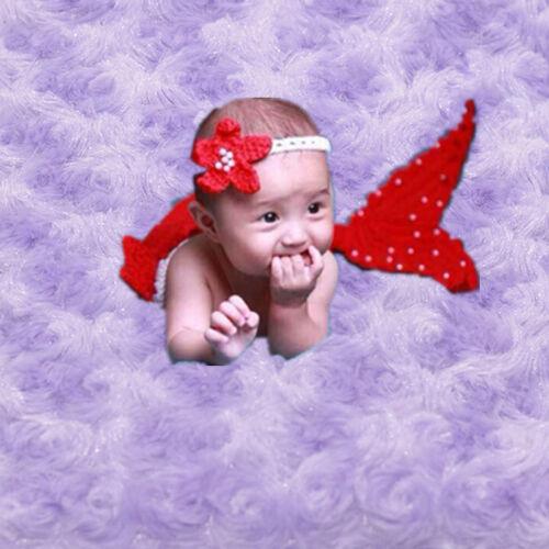 Photography Prop Rug Baby Photo Rose Flower Backdrop Newborn Baby Plush Blanket