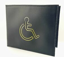 DISABLED BADGE HOLDER WALLET REAL LEATHER DISABILITY PARKING COVER BLACK 1499