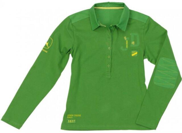 3ad4861e John Deere Ladies' Rugby Shirt Green 100 Cotton MCL110220804 M | eBay