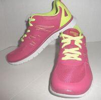 Danskin Now Women's Athletic Walking Lgt Weight Shoes Fushsia/lime Sz 6,7,8