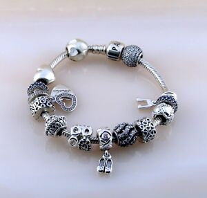 0f529758f Pandora ALE Iconic Clasp Bracelet with 14 Charms Silver 925 Size 8 ...