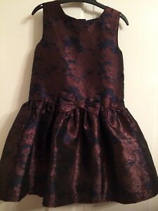 BHS-Navy-And-Brown-Bronze-Dress-Party-Special-Occasion-Age-3-4-Immaculate