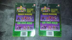 Lot de 2 figurines Mighty Morphin Power Rangers Figures Series 2 Bandai 1995
