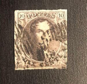 Belgium Stamp Scott 3 Used Scv 100 00 Low Price Ebay