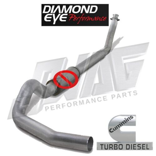 "Diamond Eye Performance Straight Piped 4/"" Exhaust For 94-02 Cummins 5.9L 5.9"