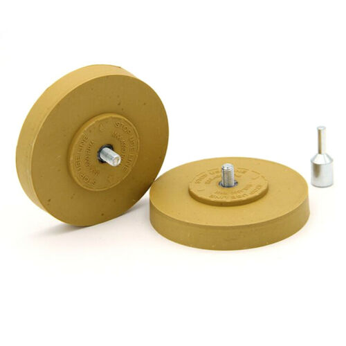 3//3.5//4 Inch Rubber Eraser Wheel Stripe Decal Pneumatic Adhesive For Remover