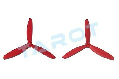 TAROT 3-blade 6045 Plastic ABS CW CCW Propeller FOR Mini 300 350 TL400E1 Red