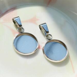 10-Pcs-Round-Cabochon-Cameo-Base-Necklace-Blank-Tray-Pendant-Jewelry-Setting-DIY