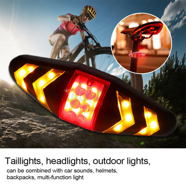 Wireless Remote Bicycle Bike Rear Tail Laser Turn Signal Light LED Indicator Red